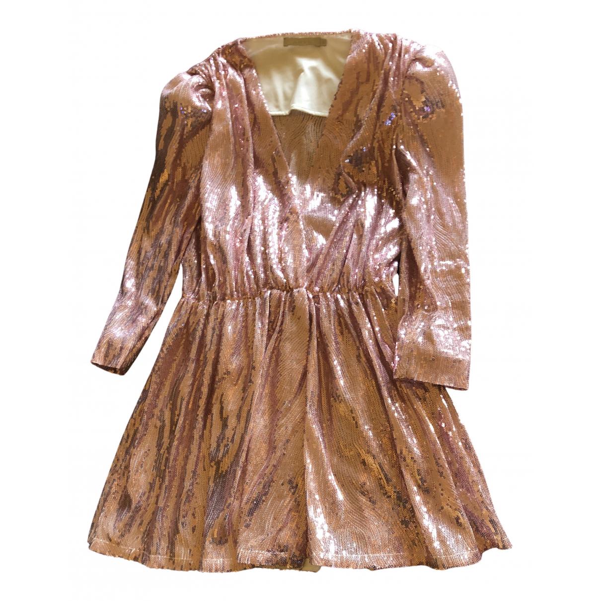 Amen Italy \N Kleid in  Rosa Mit Pailletten