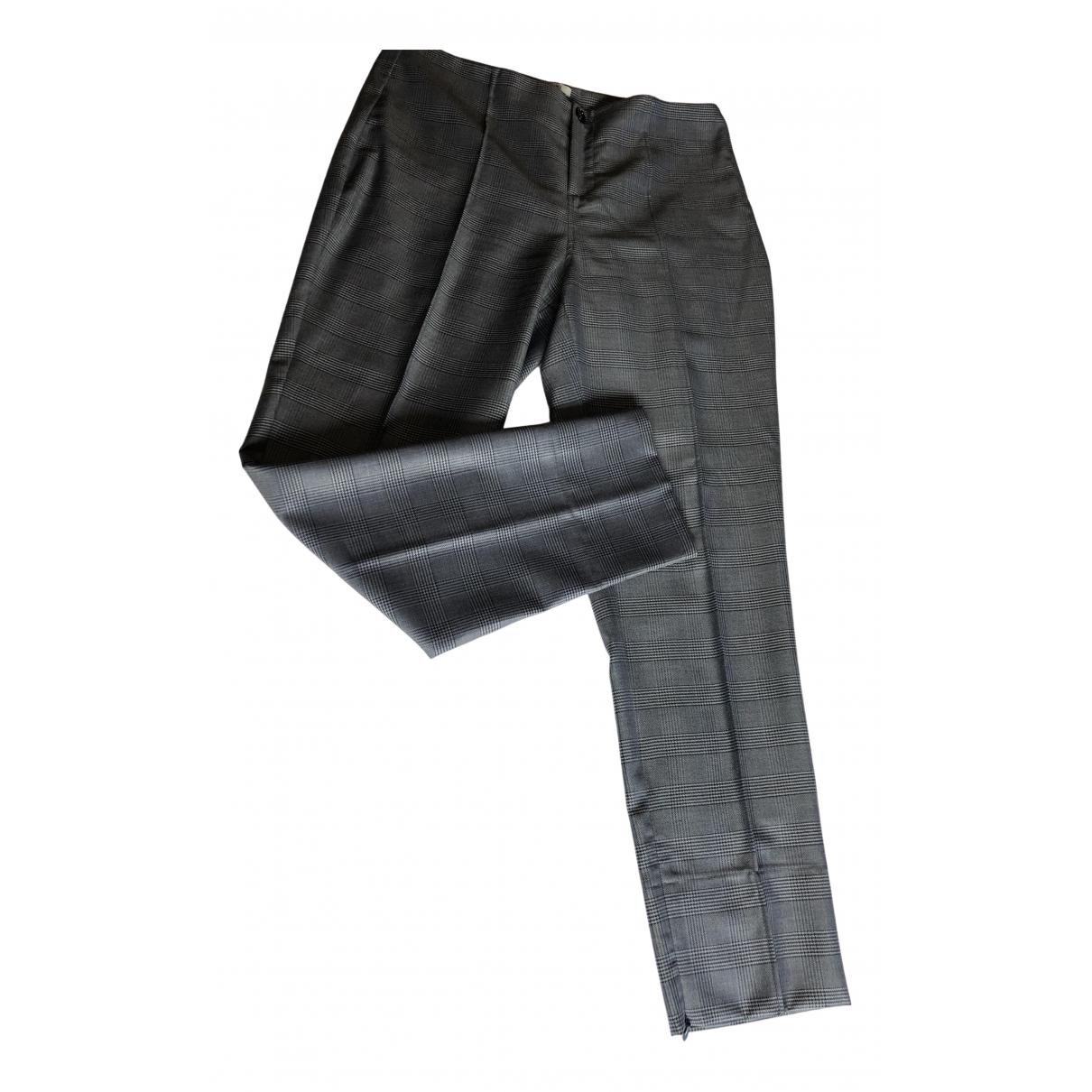 Ganni N Black Wool Trousers for Women 14 UK