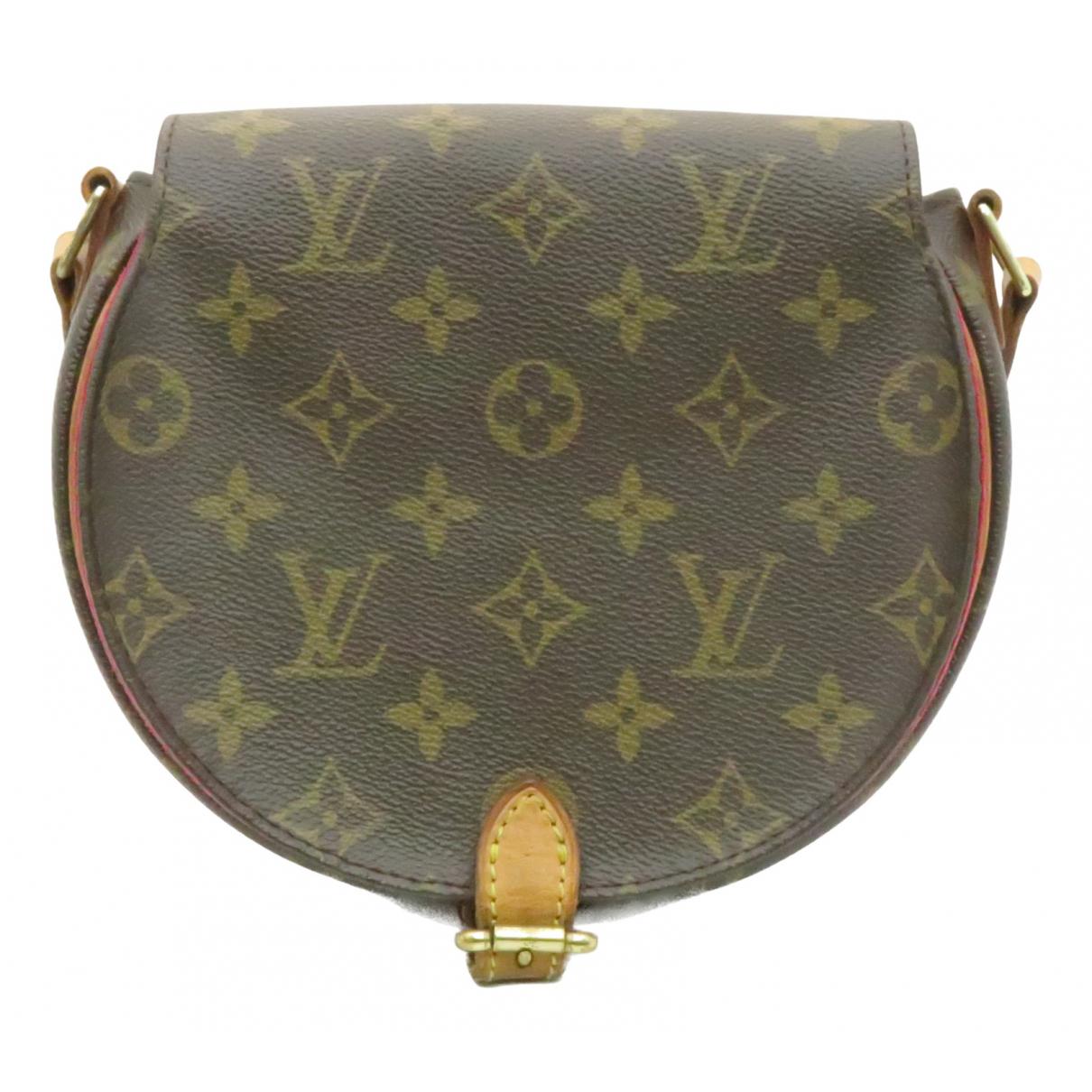 Louis Vuitton - Sac a main Tambourine pour femme en toile - marron