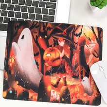 Halloween Ghost & Girl Mouse Pad