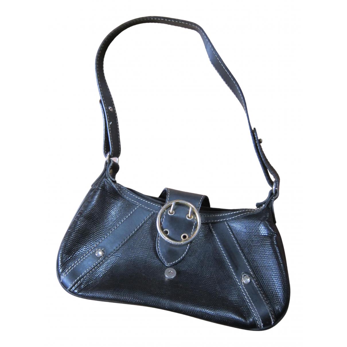 Lancel Elsa Sellier Handtasche in  Schwarz Leder