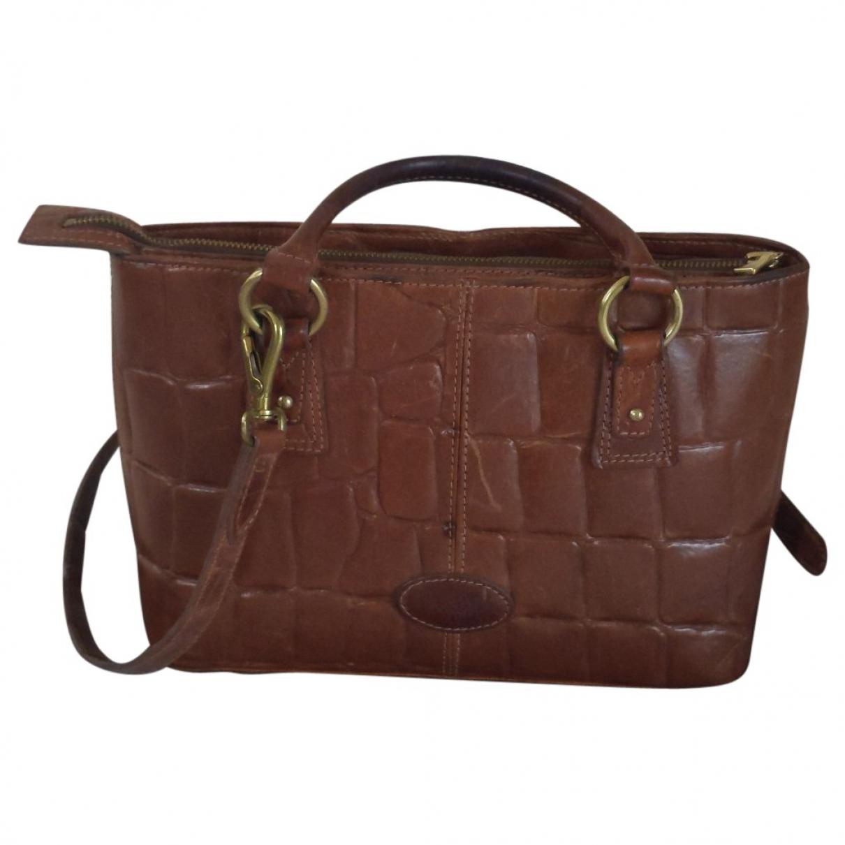 Mulberry - Sac a main   pour femme en cuir - marron