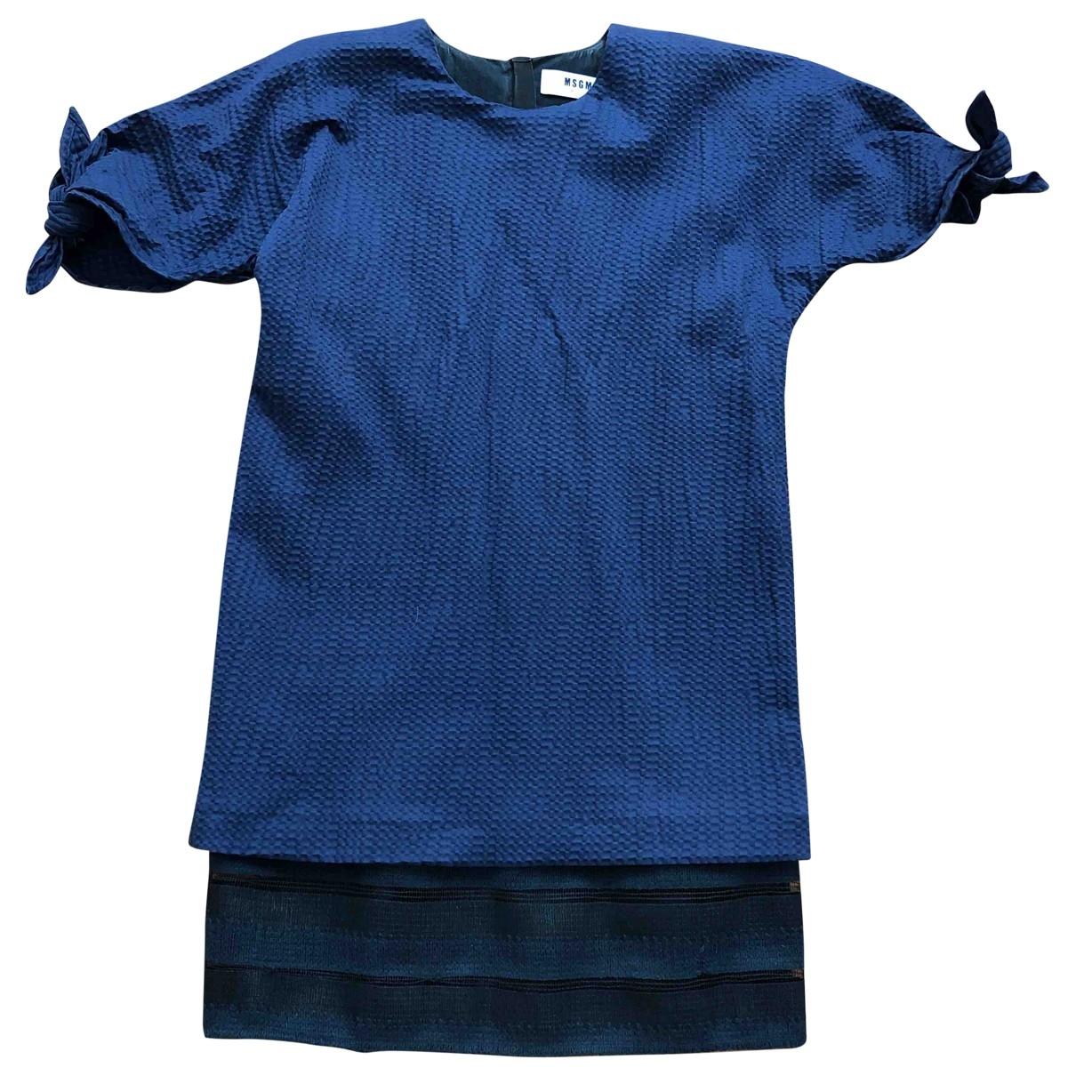 Msgm \N Blue Cotton dress for Women 42 IT