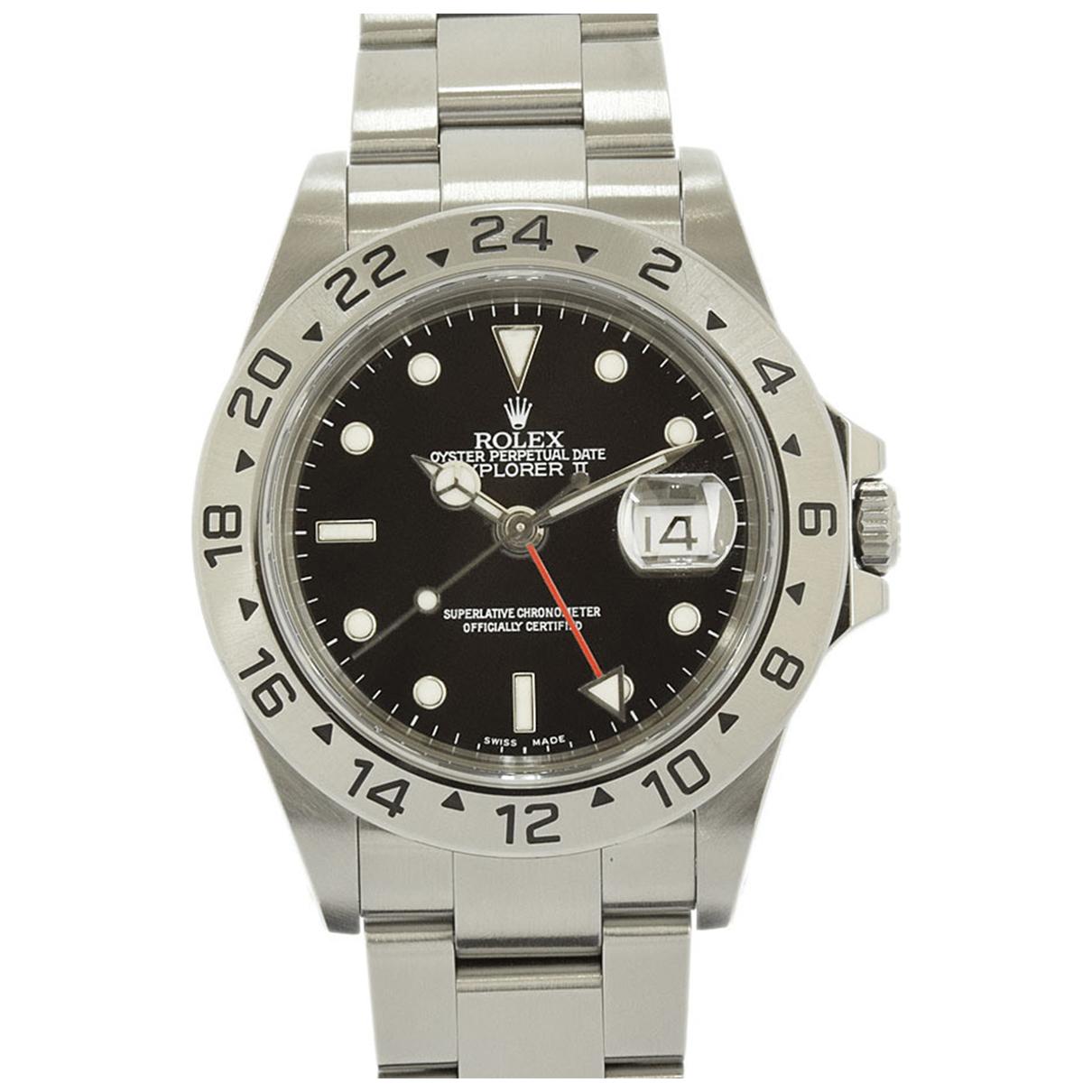 Rolex Explorer II 42mm Uhr in  Schwarz Stahl
