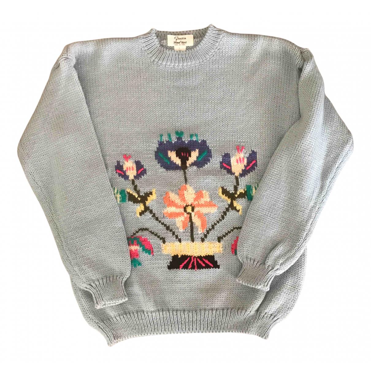 - Pull   pour femme en laine - turquoise