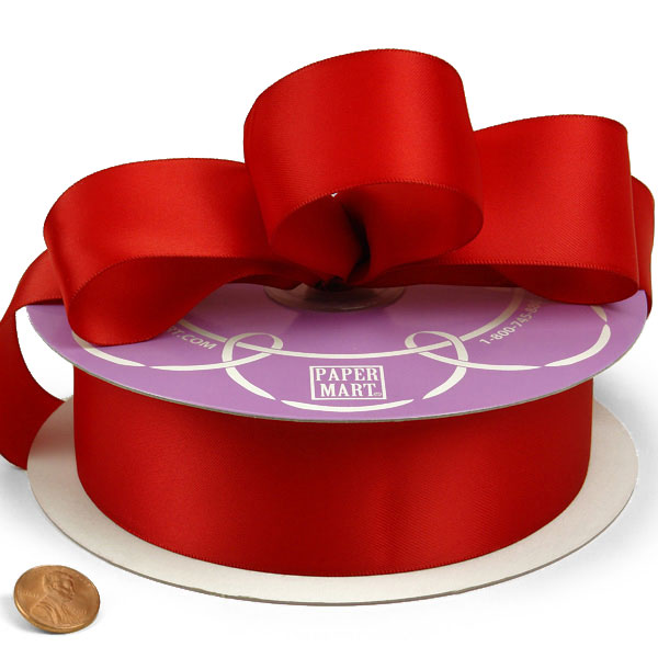 Red Double Face Satin Ribbon 3