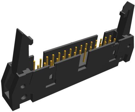 TE Connectivity , AMP-LATCH, 30 Way, 2 Row, Straight PCB Header