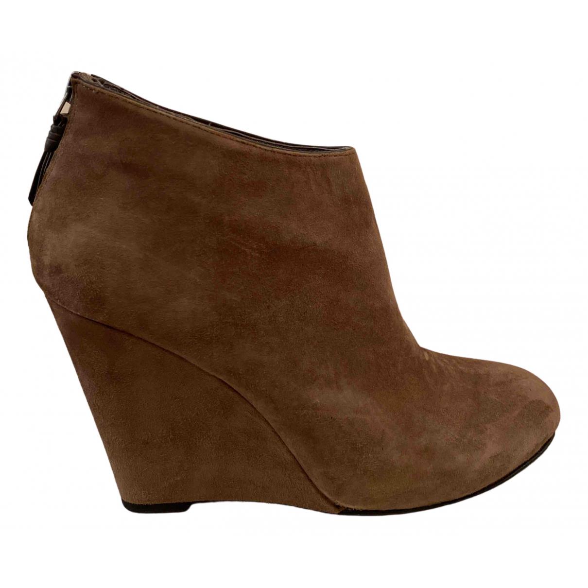 Dkny - Boots   pour femme en suede - camel