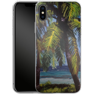 Apple iPhone X Silikon Handyhuelle - Palms von Kaitlyn Parker