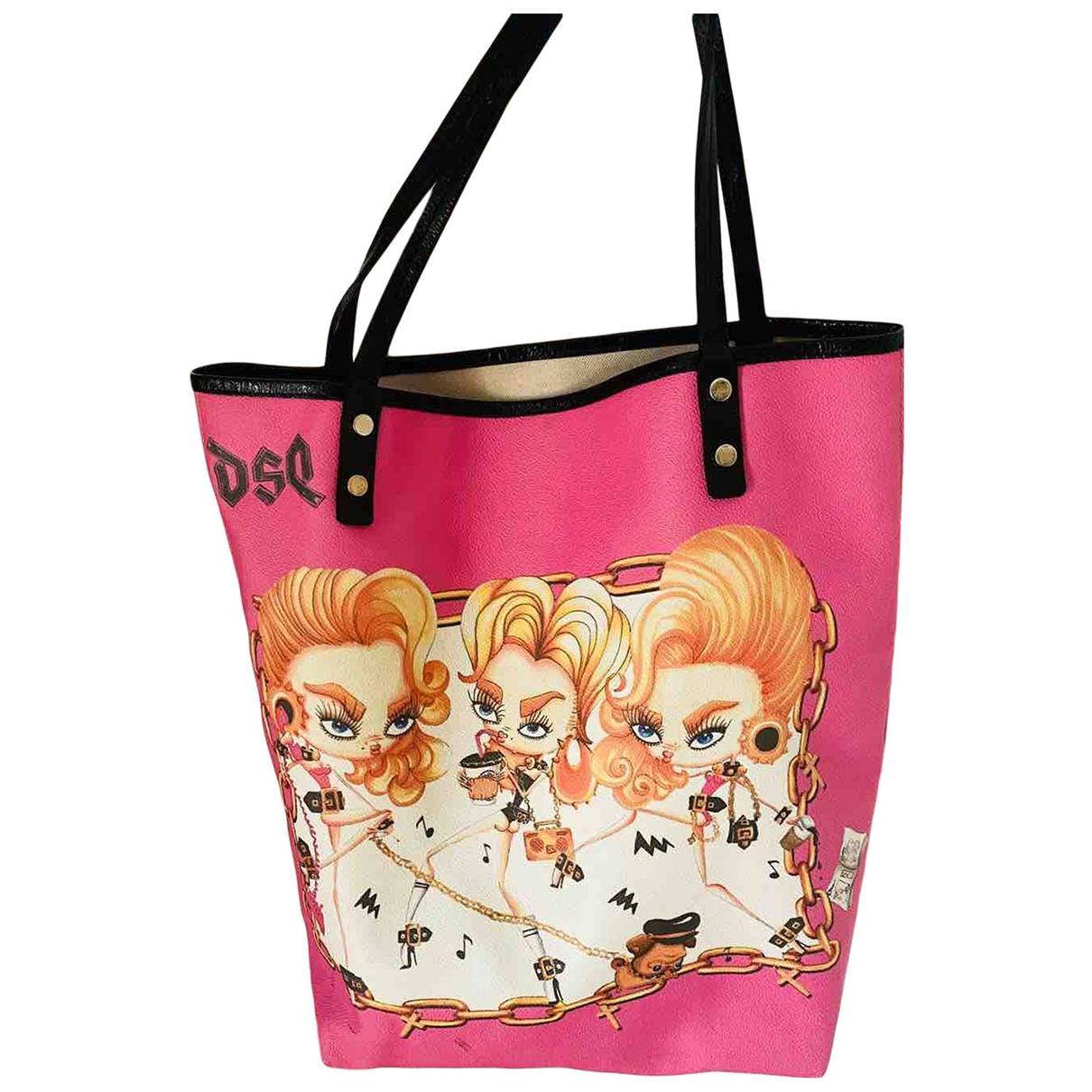 Dsquared2 \N Handtasche in  Rosa Polyester