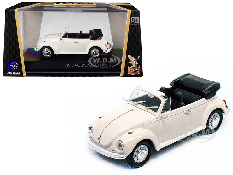 1972 Volkswagen Beetle Open Top Convertible Cream 1/43 Diecast Model Car by Road Signature