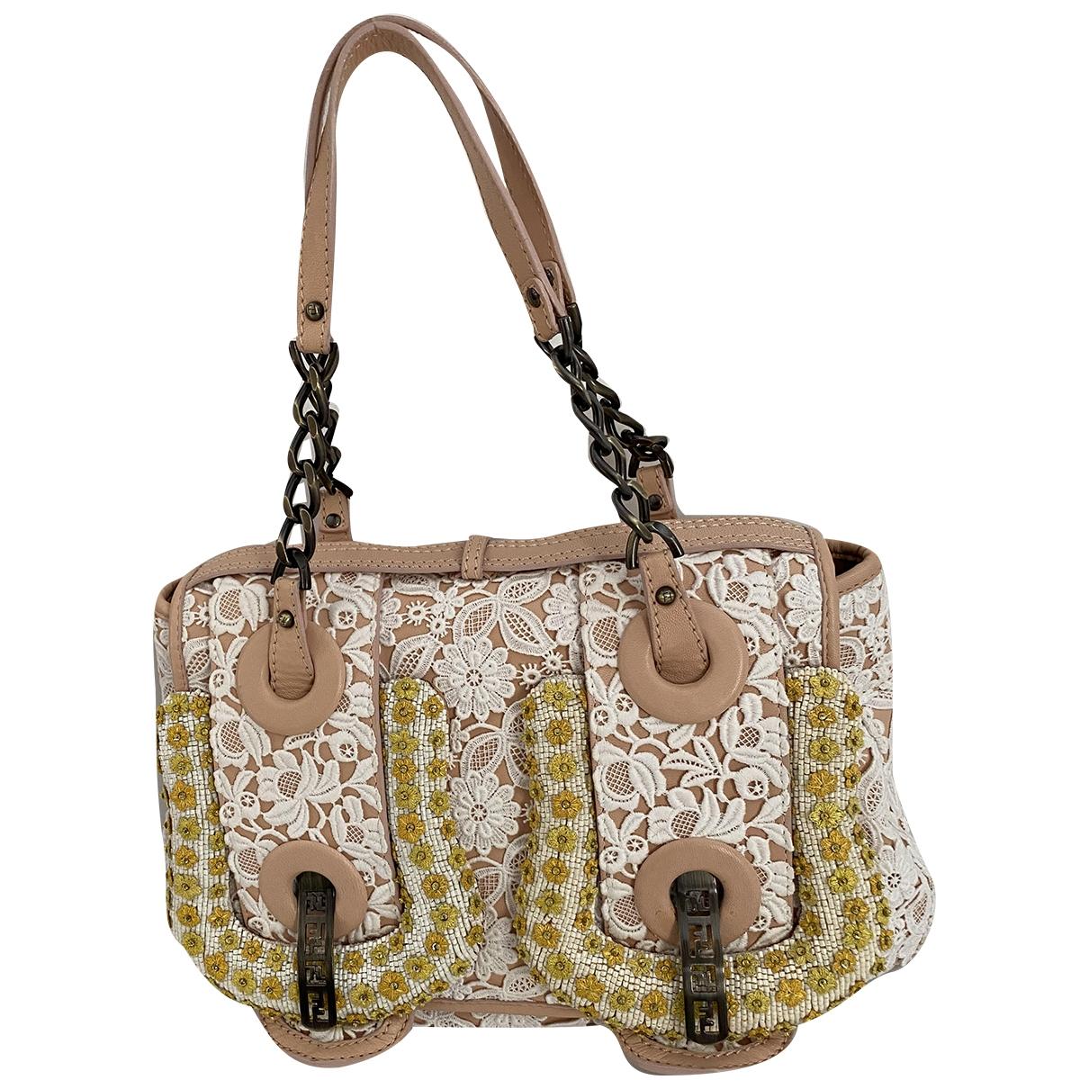 Fendi B Bag Handtasche in  Bunt Leinen