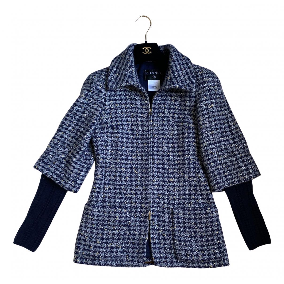 Chanel N Blue Wool jacket for Women 34 FR