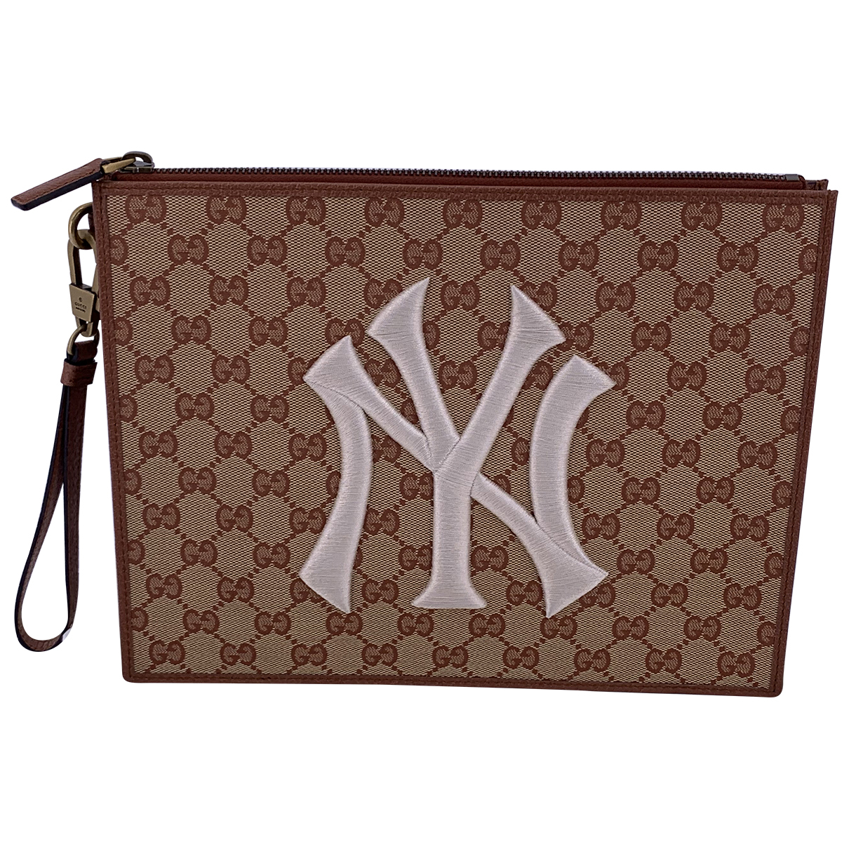 Gucci N Beige Cloth Small bag, wallet & cases for Men N