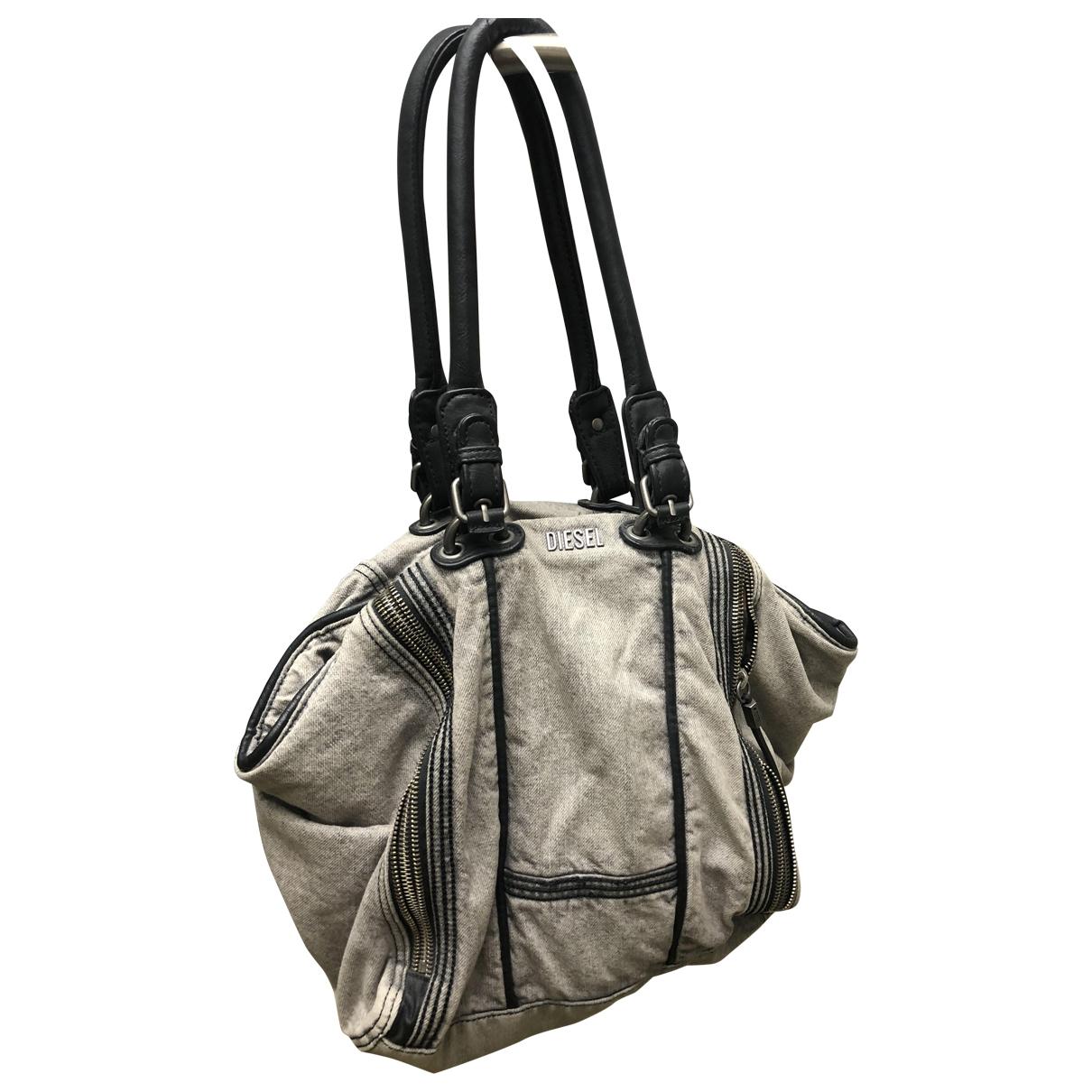 Diesel \N Handtasche in  Grau Denim - Jeans