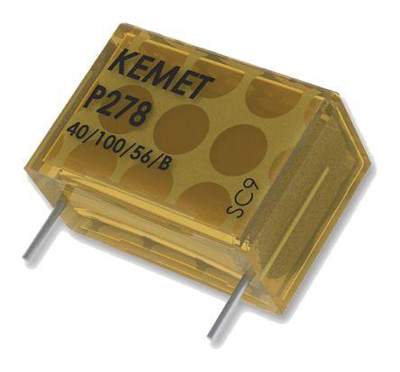 KEMET Paper Capacitor 100nF 480V ac ±20% Tolerance P278 Through Hole +110°C (5)