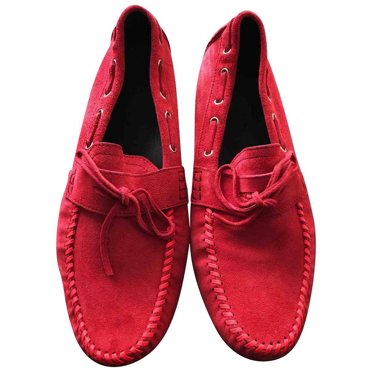 Jimmy Choo N Red Suede Flats for Men 44 EU