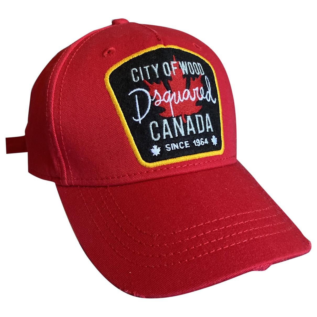 Dsquared2 - Chapeau & Bonnets   pour homme en coton - rouge