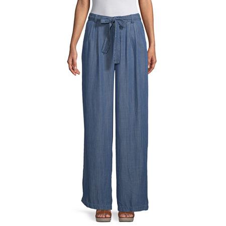 a.n.a Womens Soft Wide Leg Pant, 8 , Blue