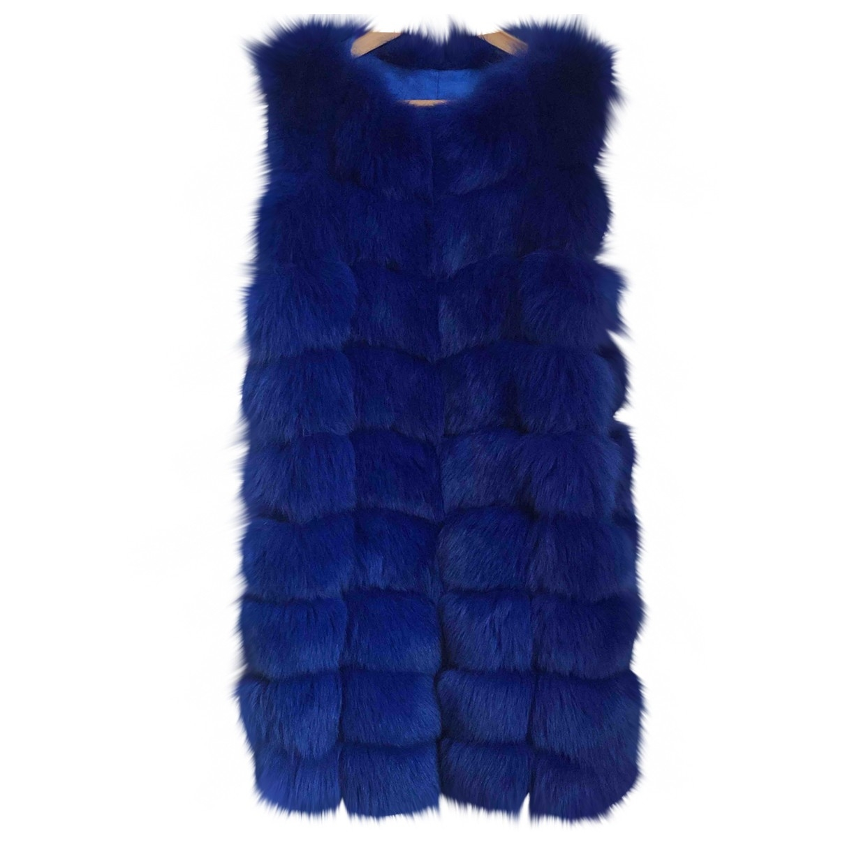 Non Signé / Unsigned \N Blue Fox coat for Women M International