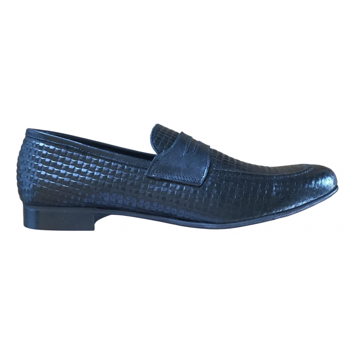 Daniele Alessandrini \N Black Leather Flats for Men 45 EU