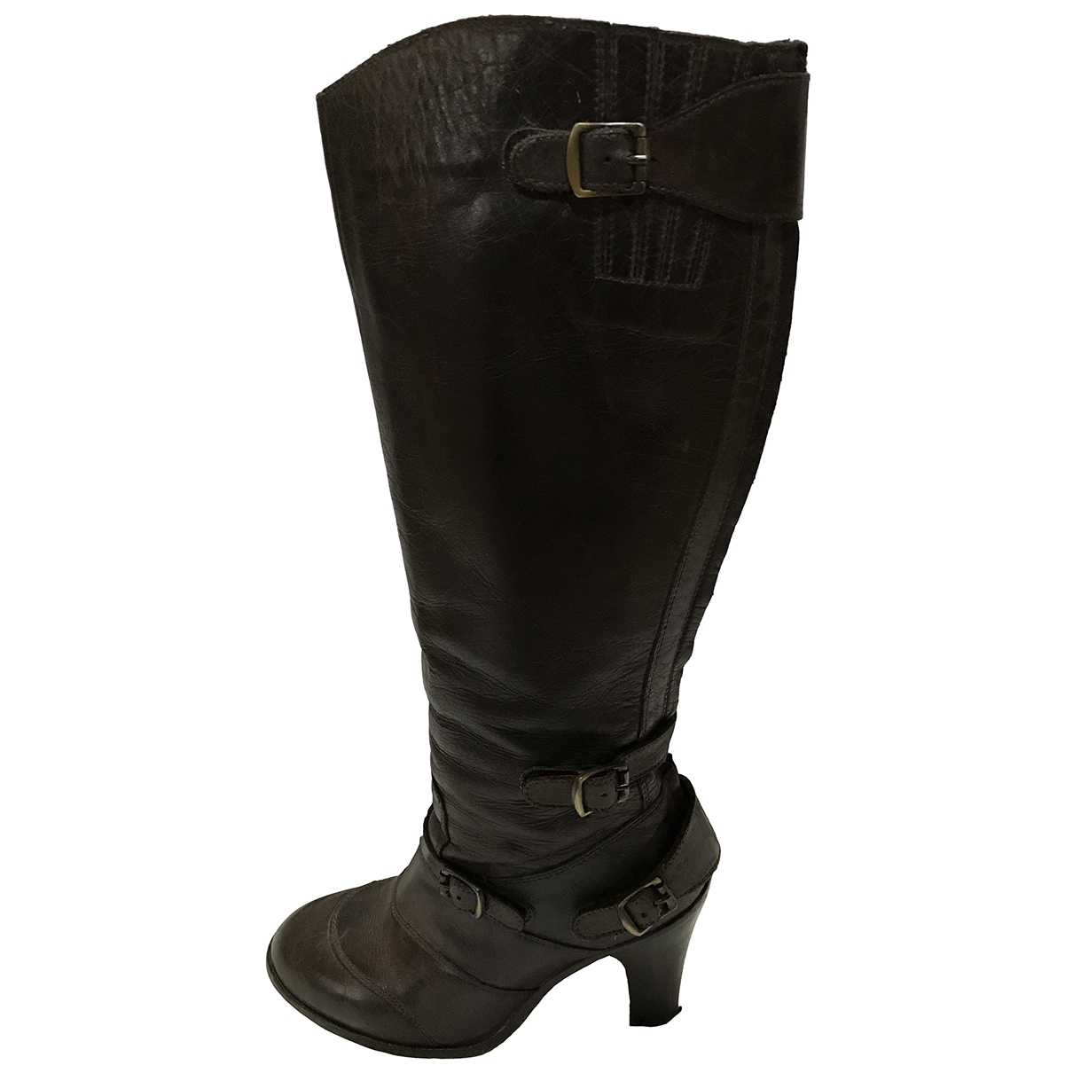 Belstaff \N Brown Leather Boots for Women 5 UK