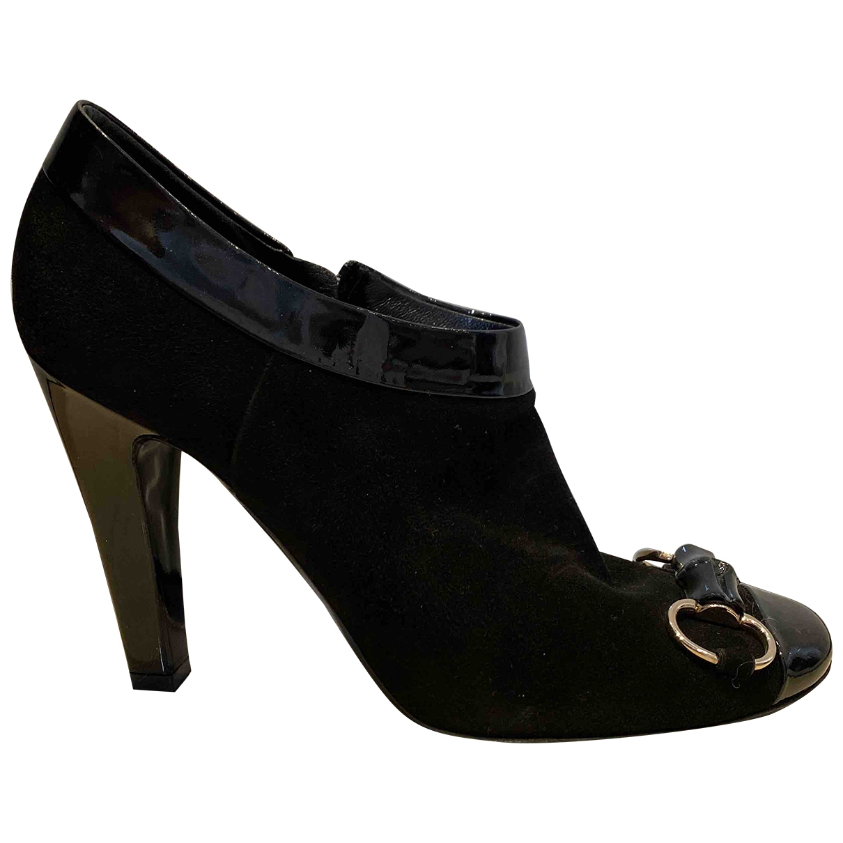 Gucci \N Black Suede Ankle boots for Women 40 EU