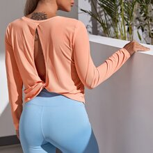 Twist Peekaboo Back Sports Tee