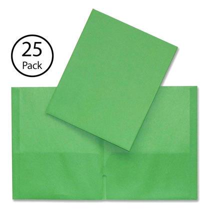 Hilroy@ portefeuille a deux pochettes, 25 couvertures par paquet - Vert