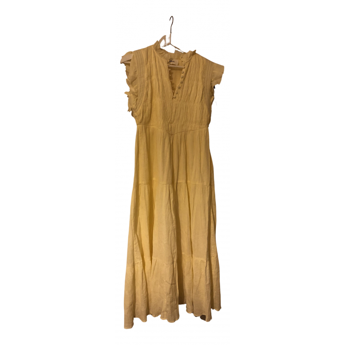 Ba&sh Spring Summer 2020 Kleid in  Gelb Baumwolle