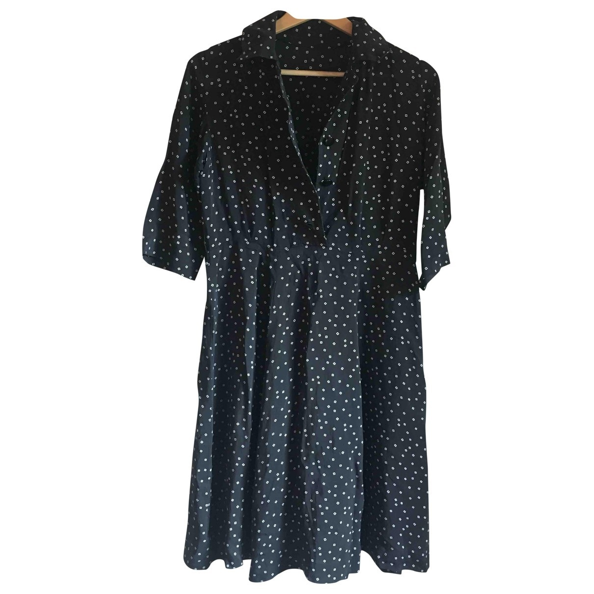 Non Signé / Unsigned \N Ecru Suede dress for Women 42 IT
