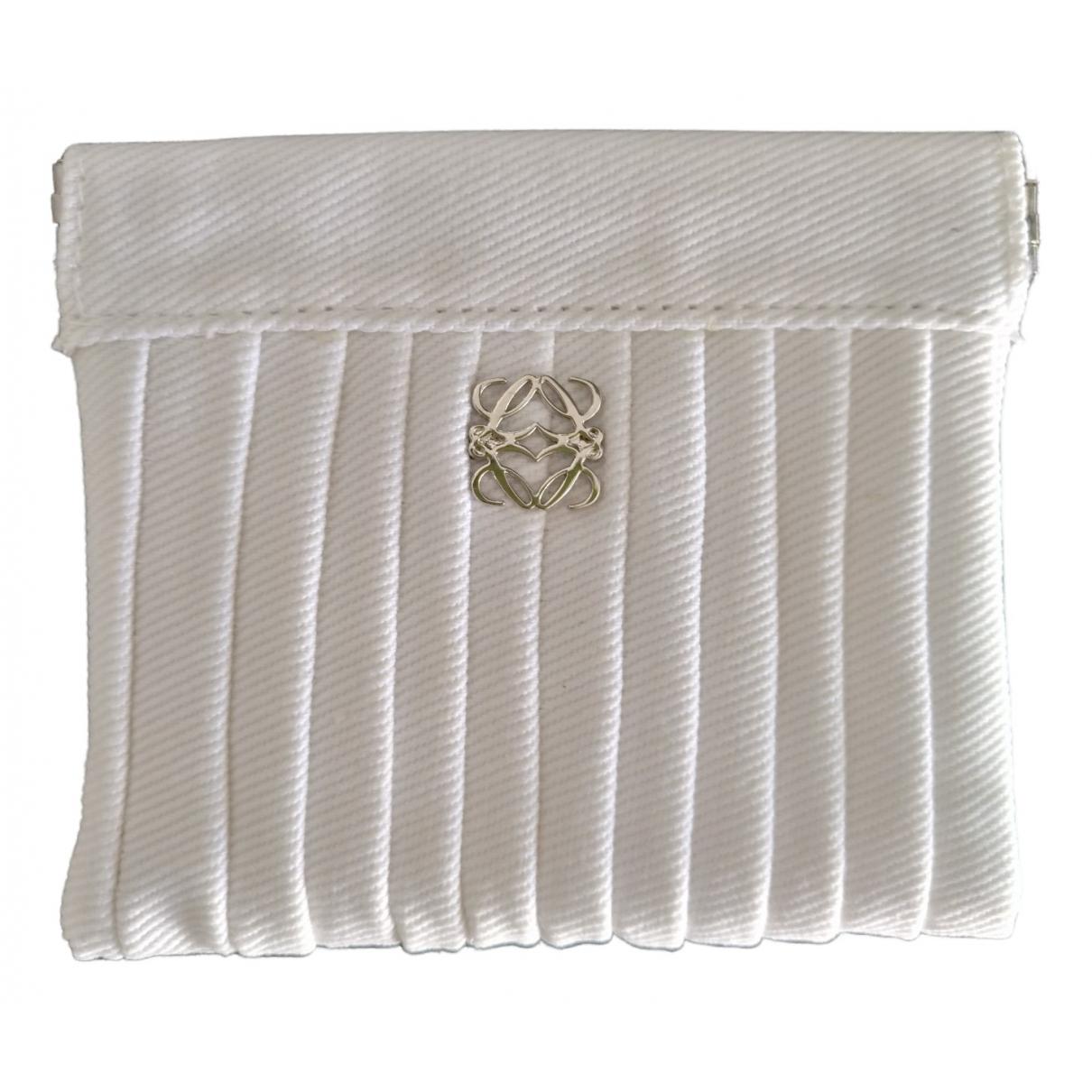 Loewe \N White Cotton Purses, wallet & cases for Women \N
