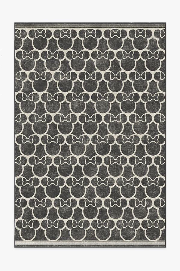 Washable Rug Cover | Minnie Trellis Black Rug | Stain-Resistant | Ruggable | 6'x9'