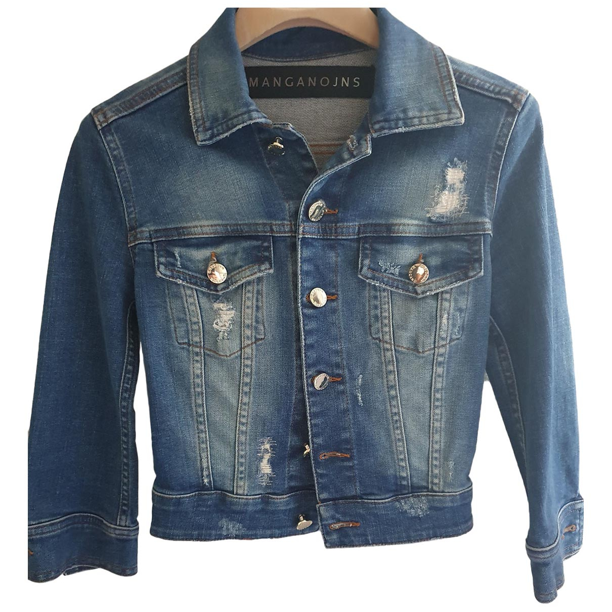 Mangano \N Blue Denim - Jeans jacket for Women 38 IT