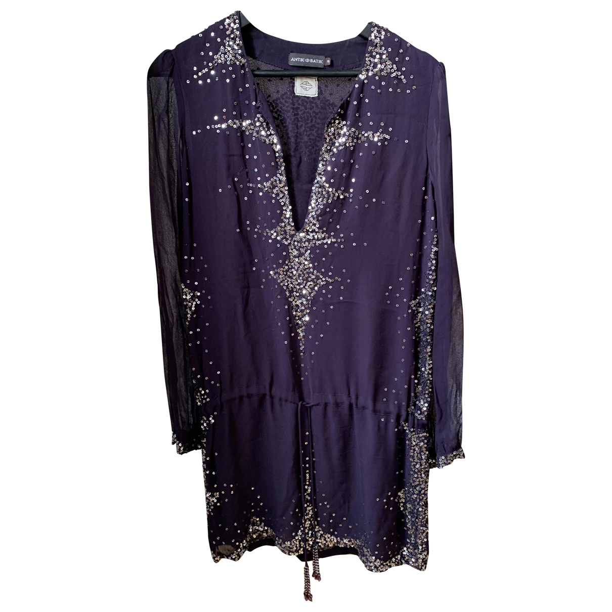 Antik Batik \N Kleid in  Lila Mit Pailletten