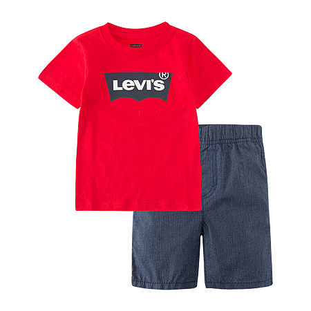 Levi's Little Boys 2-pc. Short Set, 7 , Blue