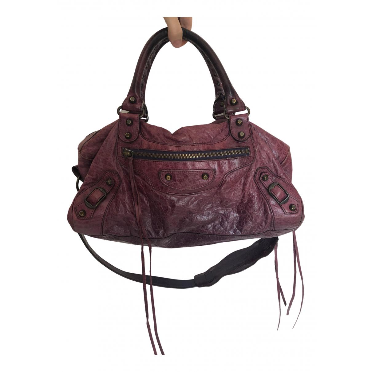 Balenciaga - Sac a main Twiggy pour femme en cuir - violet
