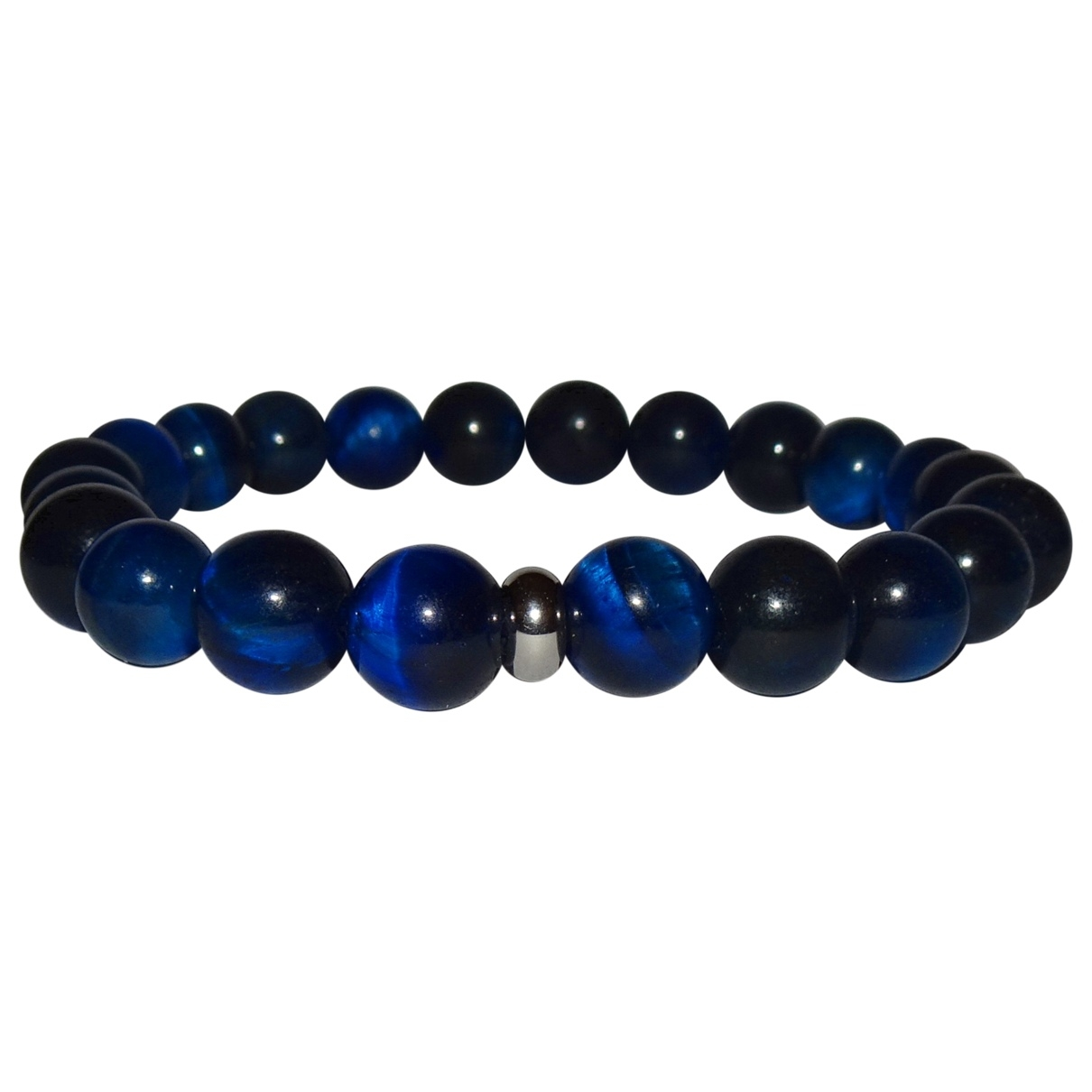 - Bracelet   pour femme en perles - bleu