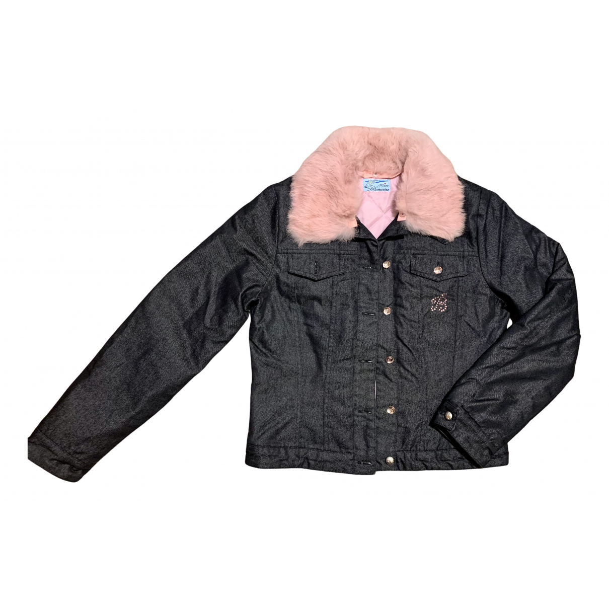 Blumarine N Anthracite Rabbit jacket for Women S International
