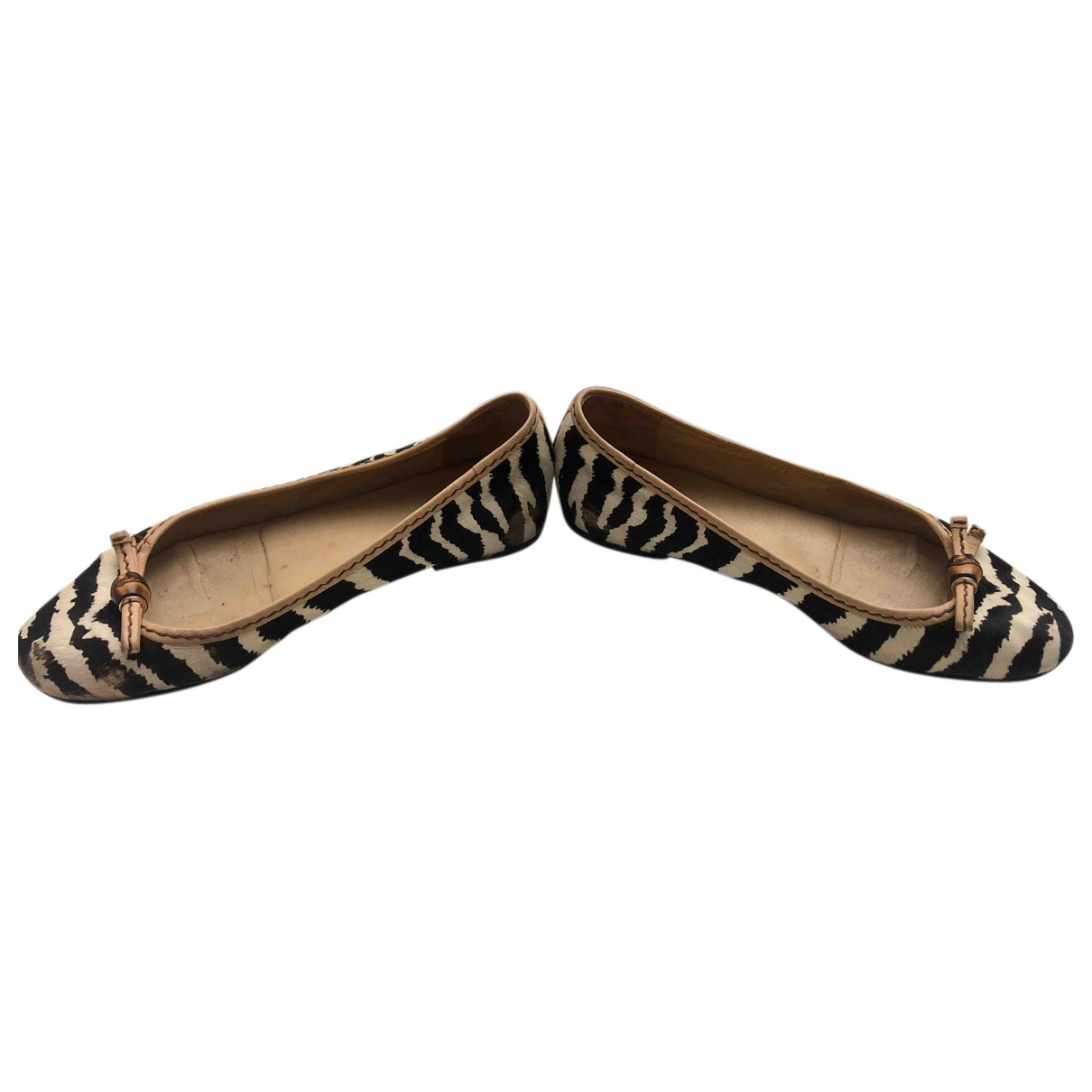 Gucci N Multicolour Leather Flats for Women 35 EU