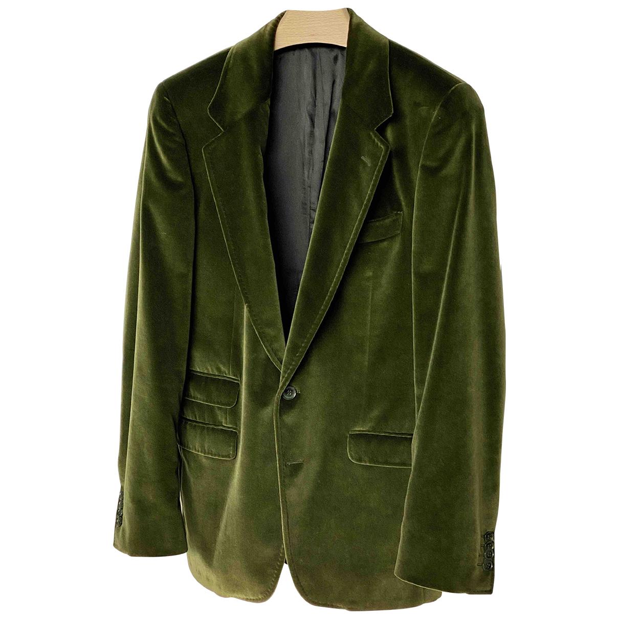 Dolce & Gabbana N Green Velvet jacket  for Men 48 IT