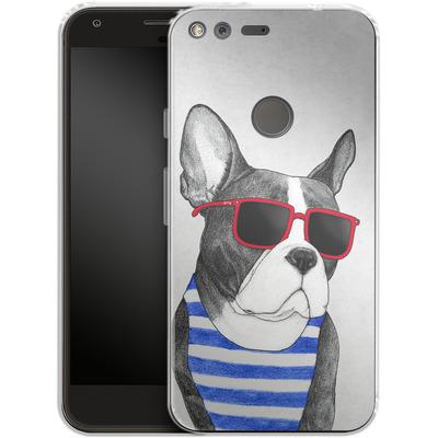 Google Pixel Silikon Handyhuelle - Frenchie Summer Style von Barruf