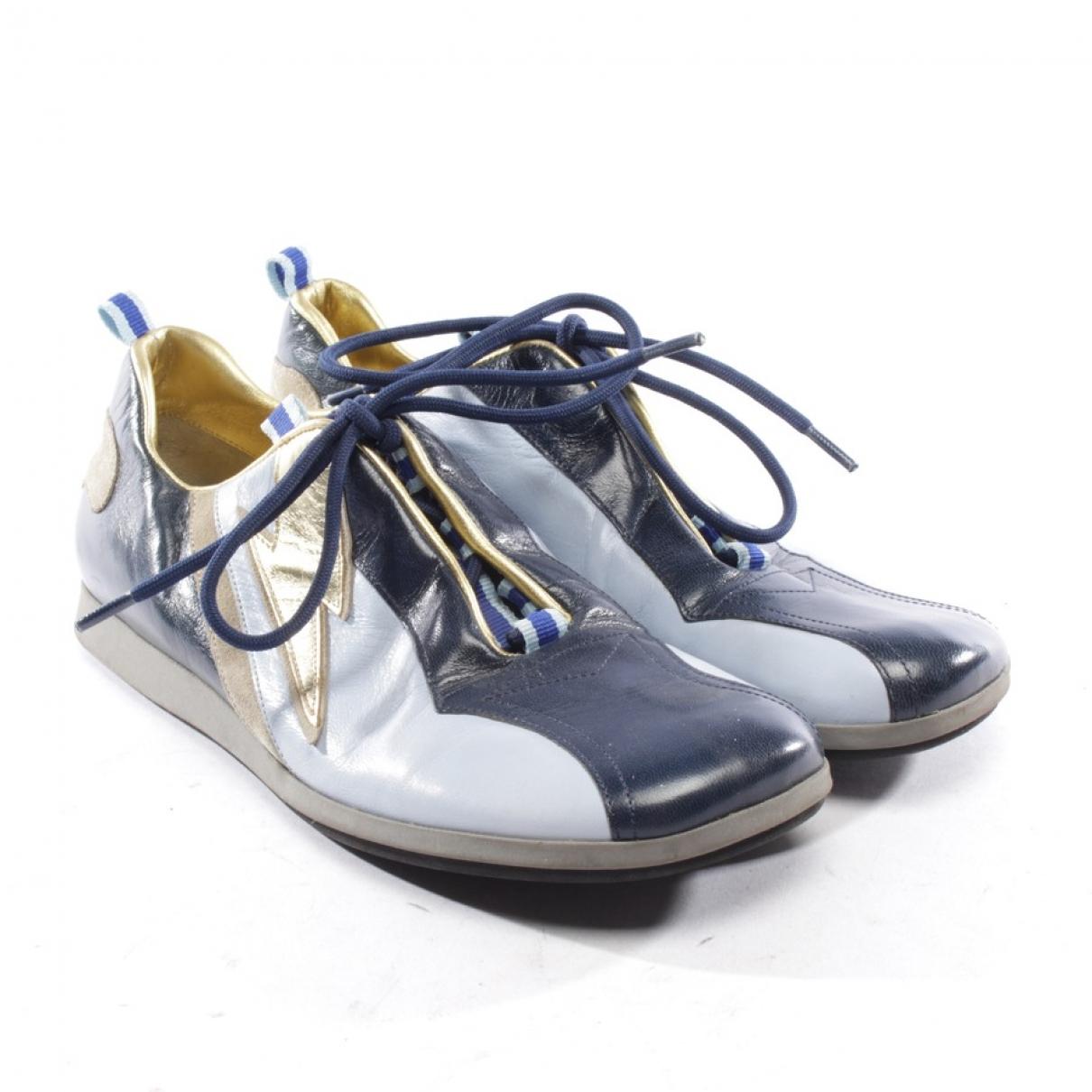 Miu Miu \N Sneakers in  Blau Leder