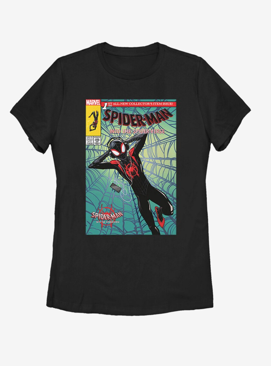 Marvel Spider-Man: Into the Spider-Verse Music Time Womens T-Shirt