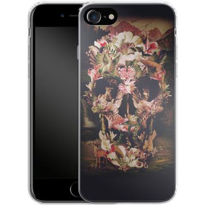 Apple iPhone 8 Silikon Handyhuelle - Jungle Skull von Ali Gulec