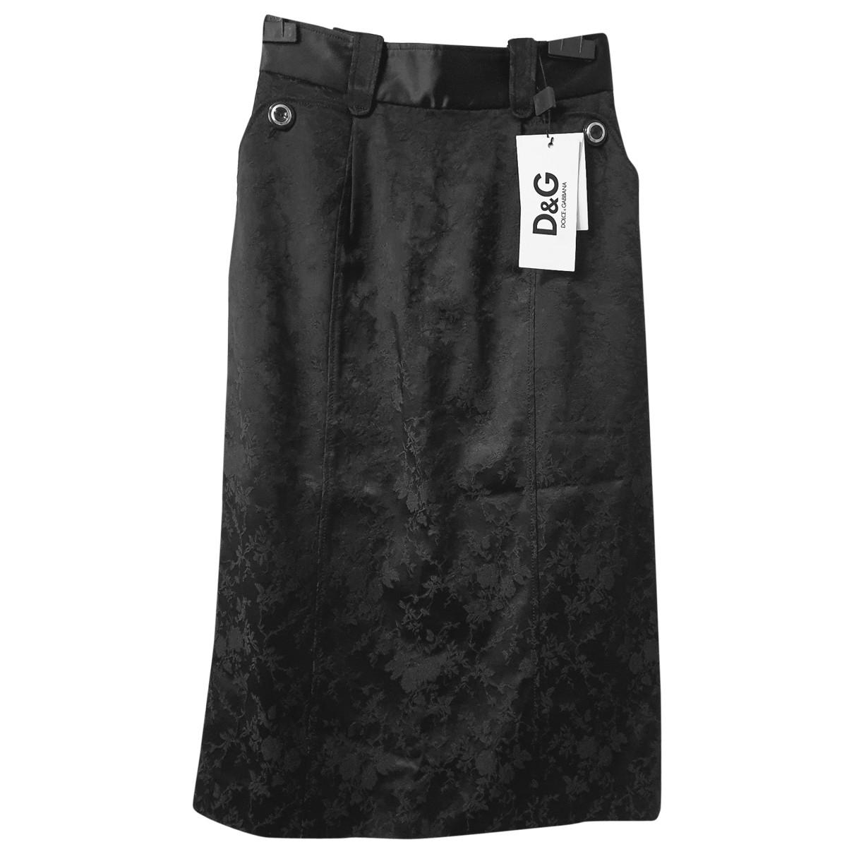 D&g - Jupe   pour femme en coton - noir