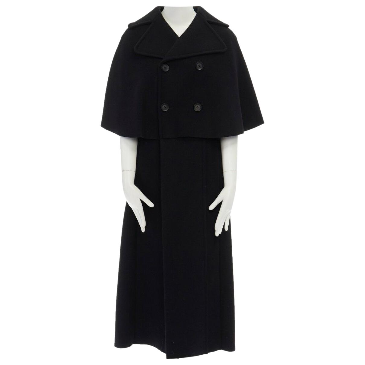 Yohji Yamamoto - Manteau   pour femme en laine - noir