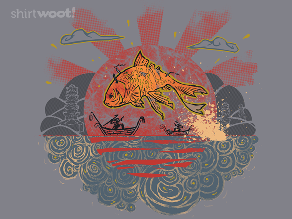 Flight Of The Golden Fish T Shirt