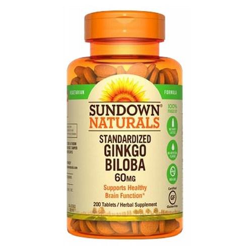 Standardized Ginkgo Biloba 12 X 200 Tabs by Sundown Naturals