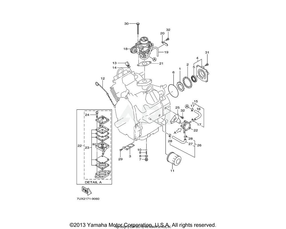 Yamaha OEM YA2-51622-51-08 DIAPHRAGM GASKET SET